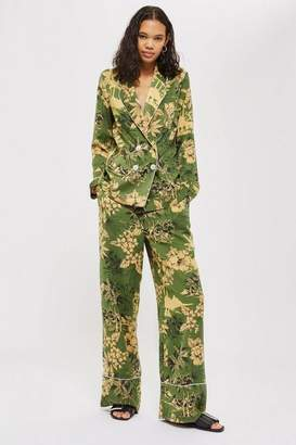 Topshop Womens Tropical Print Pyjama Trousers