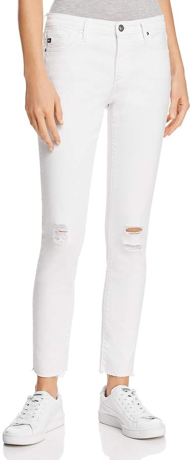 Legging Ankle Jeans in White Torn - 100% Exclusive
