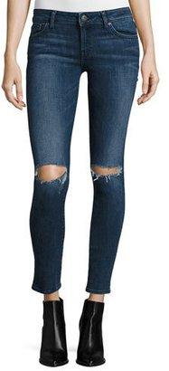 DL1961 Premium Denim Emma Ripped Power Legging Jeans, Barbwire $198 thestylecure.com