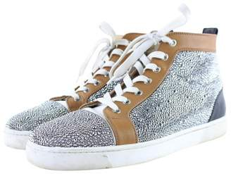 Christian Louboutin Louis Silver Patent leather Trainers