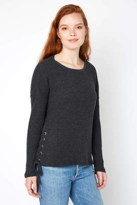Z Supply Lace Up Side Tie Pullover