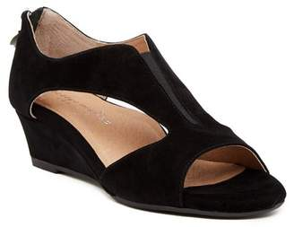 Bettye Muller Shaye Suede Wedge Sandal