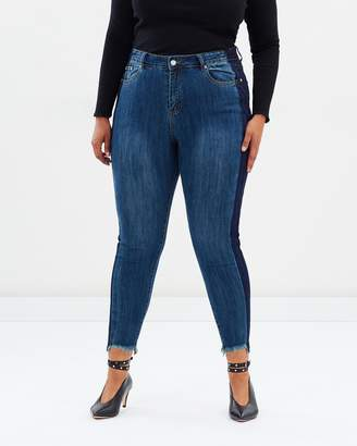 ICONIC EXCLUSIVE - Cindy Two Tone Jeans