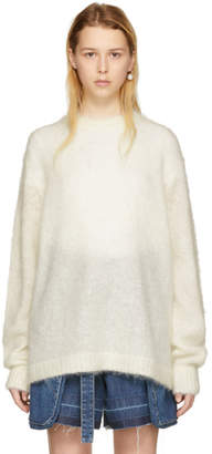 Acne Studios Off-White Mohair Maxhi Sweater