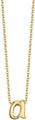 """Unwritten Initial 18"""" Pendant Necklace in Gold-Tone Sterling Silver"""