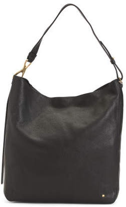 Leather Hobo With Detachable Pouch