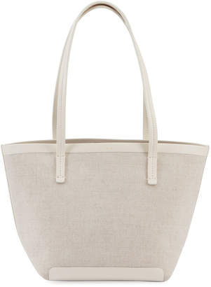 The Row Park Bonded Canvas Tote Bag, Beige