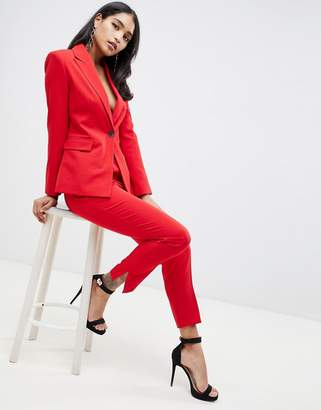 Asos Design DESIGN red suit slim pants
