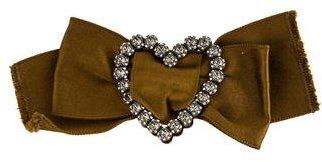 LanvinLanvin Crystal Heart Bow Brooch