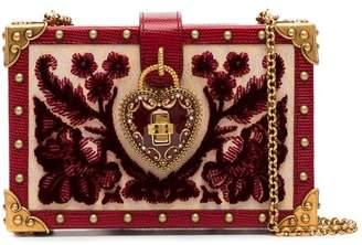 Dolce & Gabbana heart lock embellished velvet box bag