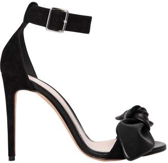 Alexander McQueen 105mm Bow Leather Sandals