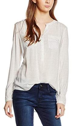 ... Tom Tailor Women's Loose Fit Long Sleeve Blouse - Off-White