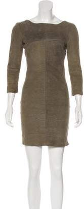 Elise Overland Embossed Sheath Dress