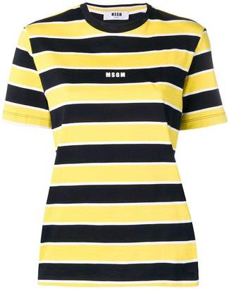 MSGM striped short-sleeve T-shirt