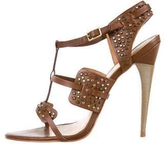 L.A.M.B. Leather Embellished Sandals