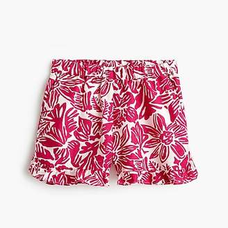 J.Crew Girls' pull-on short in tropical floral