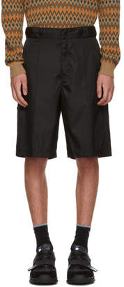 Prada Black Technical Shorts