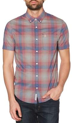 Original Penguin Miniplaid Stretch Woven Shirt