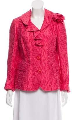 Lafayette 148 Embellished Tweed Blazer