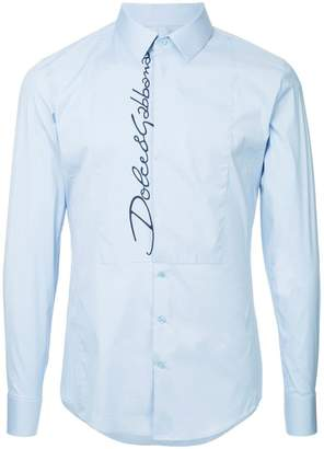 Dolce & Gabbana logo long-sleeve shirt