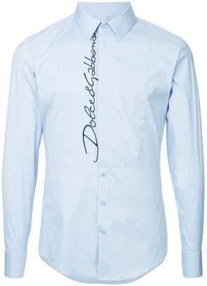 Dolce & Gabbana logo long-sleeve shirt