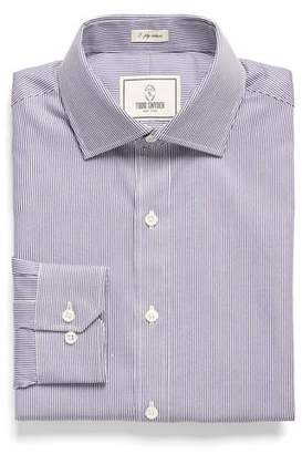 Todd Snyder White Label Spread Collar Dress Shirt in Fine Blue Stripe