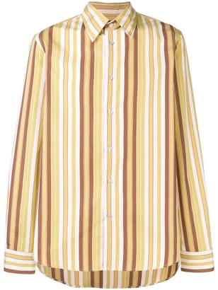 Marni tonal striped shirt