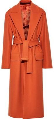 Joseph Patrice Belted Wool-blend Felt Coat
