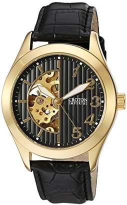 Croton Men's CI331081YLBK Analog Display Chinese Automatic Black Watch