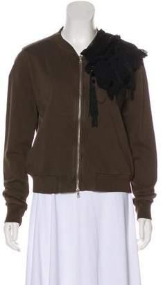 Dries Van Noten Embellished Jersey Cardigan