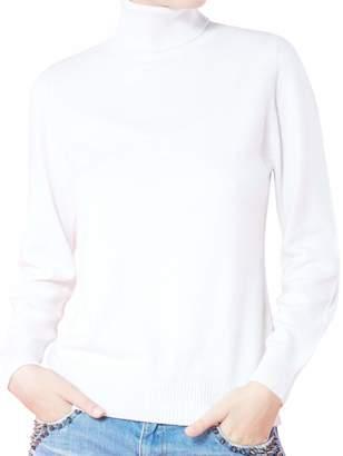 9690265390f4 LongMing Women's 100% Cashmere Slim-fit Long Sleeve Winter Turtleneck  Sweater Pullover Tops