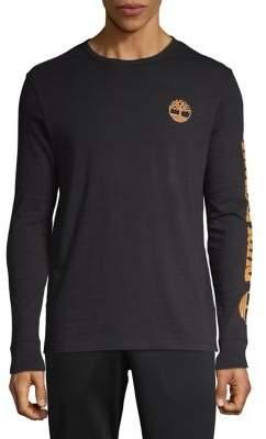 Timberland Logo-Sleeve Graphic Sweater