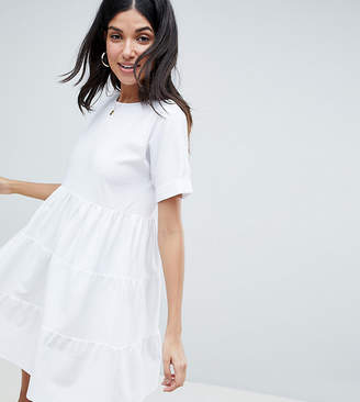 566735f4fa7 Asos Tall DESIGN Tall cotton smock dress with panels