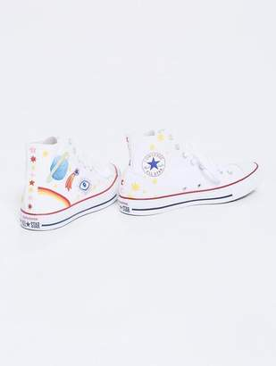Mother Phoebe Paints Sun, Moon, & Stars Shoe White
