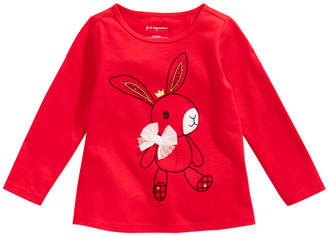 First Impressions Toddler Girls Long-Sleeve Cotton Bunny T-Shirt