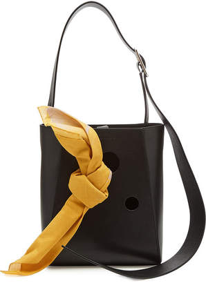 Calvin Klein Small Leather Bucket Bag Tote