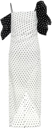 REJINA PYO Layla polka-dot seersucker dress