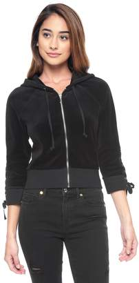 Juicy Couture Velour Lace Up Jacket