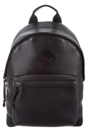 Tom Ford Grain Leather Suede-Trimmed Backpack