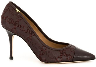 Tory Burch Penelope 85mm embroidered pumps