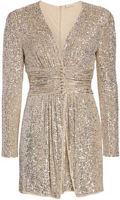 Ramy Brook Jenny Beaded Sequin Mini Dress
