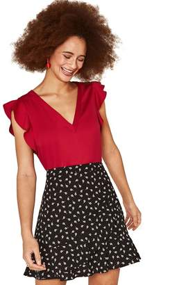 Oasis Mid Red Work Top