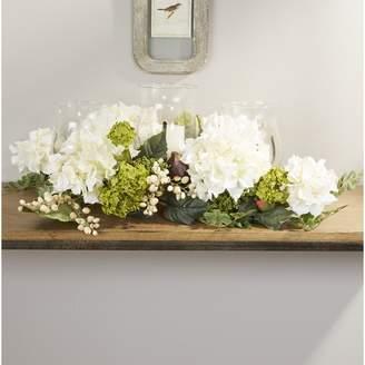 Co Darby Home Hydrangea Centerpiece in Candelabrum