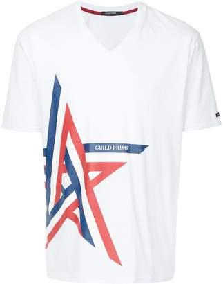 GUILD PRIME striped star print T-shirt