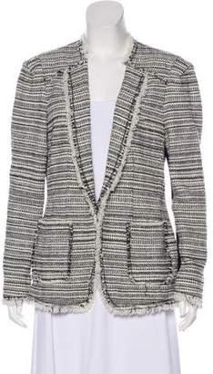 Rebecca Taylor Tweed Long Sleeve Blazer