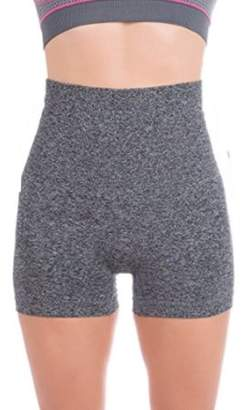 ±0 0 Higi Quality Comfortable Women Fitness Running Yoga Shorts Sports Mini Shorts - LARGE H. GREY