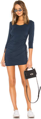 Bobi Modal Jersey Ruched Mini Dress