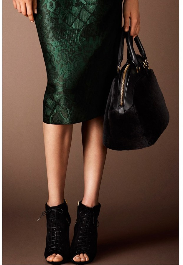 Burberry Virginia open-toe suede ankle boots