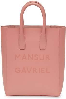 Mansur Gavriel Calf Logo Mini NS Tote - Blush