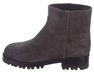 Helmut Lang Suede Combat Ankle Boots w/ Tags
